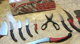 Набор ножей 10 предметов, бу