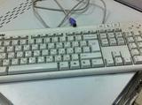 Компьютерная клавиатура белая, PC/2 в ассортименте